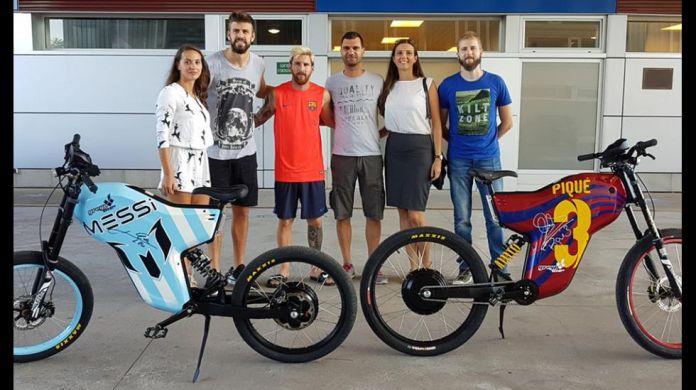 Bicicleta eléctrica Messi, Piqué y Fabregas